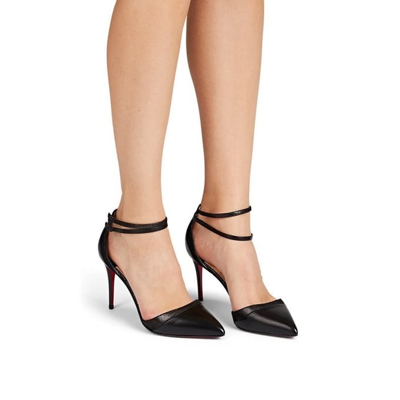 sale retailer eeeee 2e113 Christian Louboutin Uptown Ankle Strap Pumps NWT